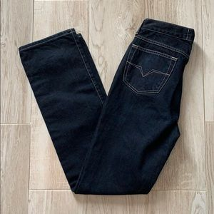 Versace Jeans Couture High Waisted Dark Wash Jeans